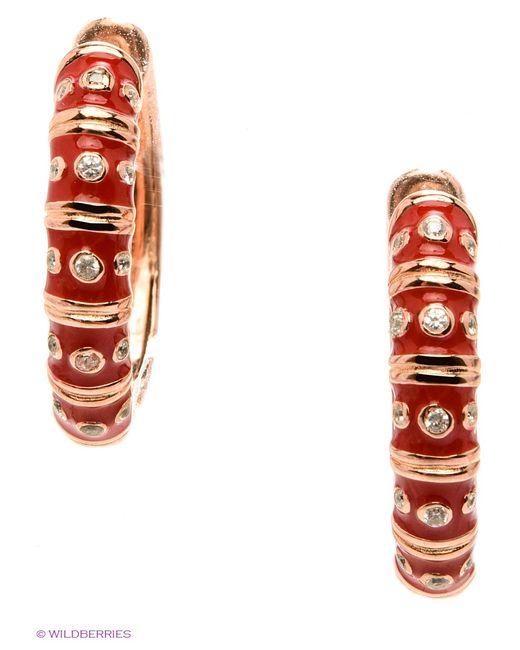 Happy Garnets | Женские Красные Ювелирные Серьги