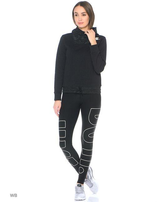 Nike   Женские Чёрные Худи W Nsw Av15 Hoodie Fz Flc