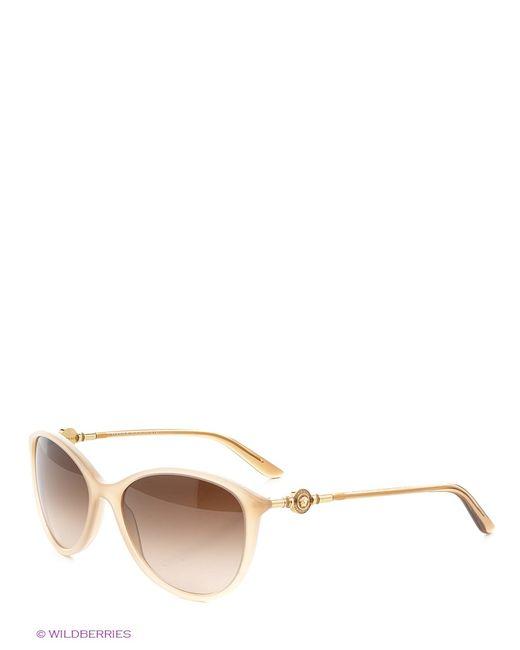 Versace | Женские Бежевые Солнцезащитные Очки