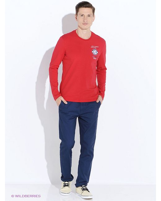 Finn Flare   Мужские Красные Футболки
