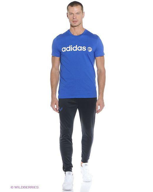 Adidas | Мужская Синяя Футболка