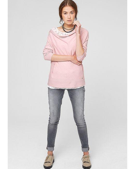 s.Oliver | Женские Розовые Пуловеры