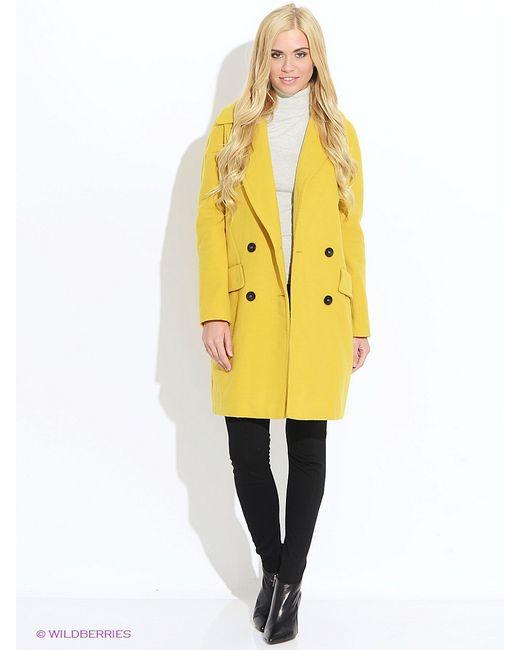 Oodji | Женское Горчичное Пальто