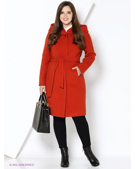 Electrastyle | Женское Терракотовое Пальто