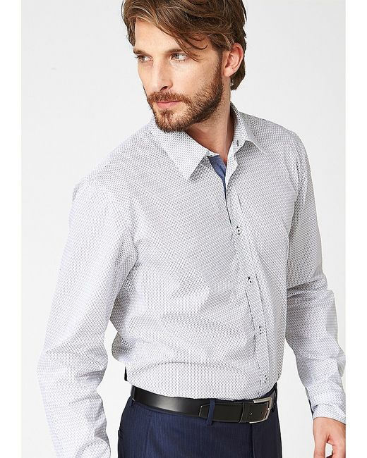 s.Oliver | Мужские Белые Рубашки