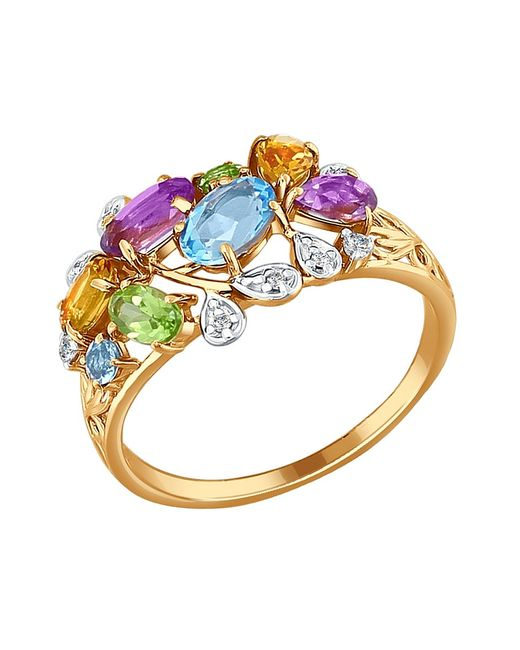 SOKOLOV | Женские Золотистые Ювелирные Кольца