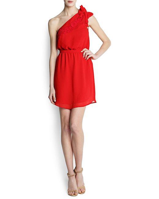 Mango | Женские Красные Платья