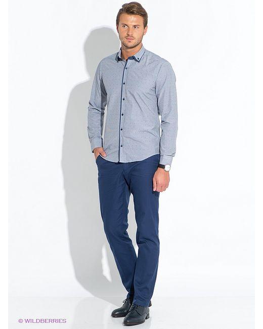 BAWER   Мужские Синие Рубашки