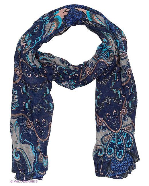 Модные истории   Женские Синие Палантины