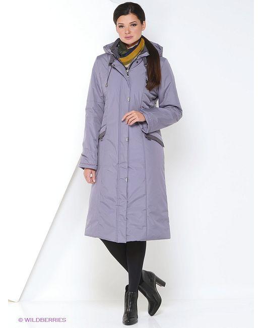 Maritta | Женское Фиолетовое Пальто