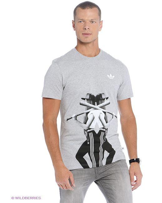 Adidas   Мужская Серая Футболка