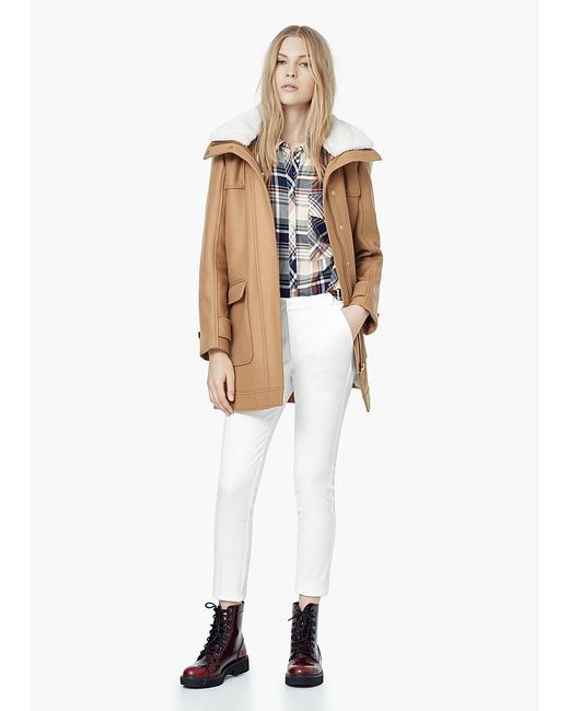 Mango | Женское Коричневое Пальто