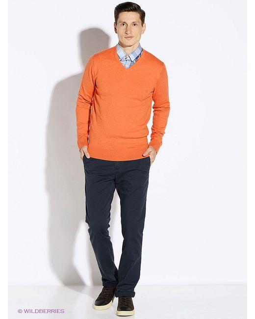 Tommy Hilfiger | Мужские Оранжевые Пуловеры