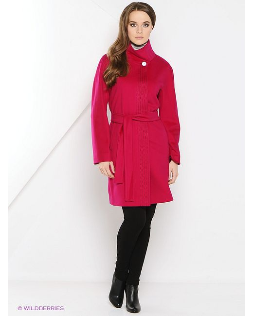Estrade   Женское Малиновое Пальто