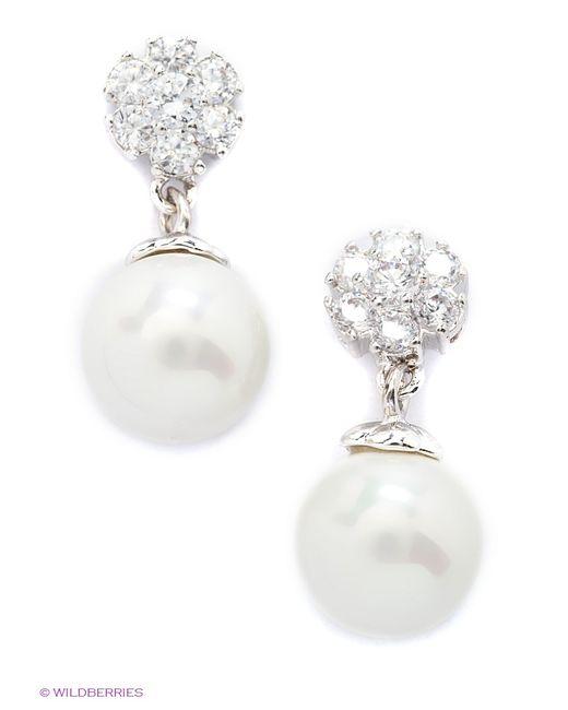 Royal Diamond   Женские Серебристые Серьги