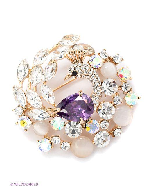 Royal Diamond | Женские Золотистые Броши