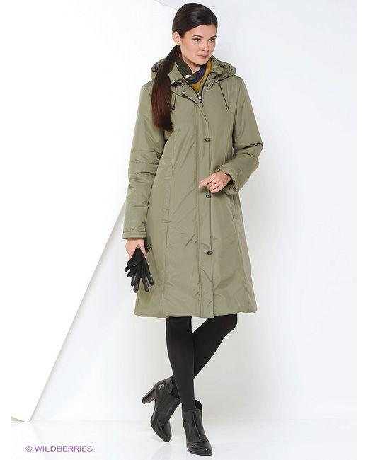 Maritta | Женское Оливковое Пальто