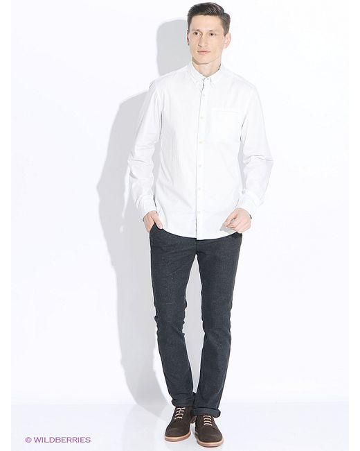s.Oliver | Мужские Молочные Рубашки