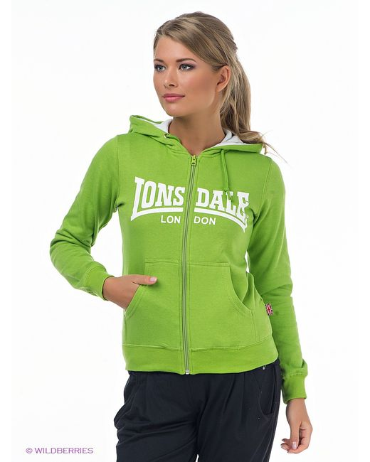 Lonsdale   Зелёные Толстовки