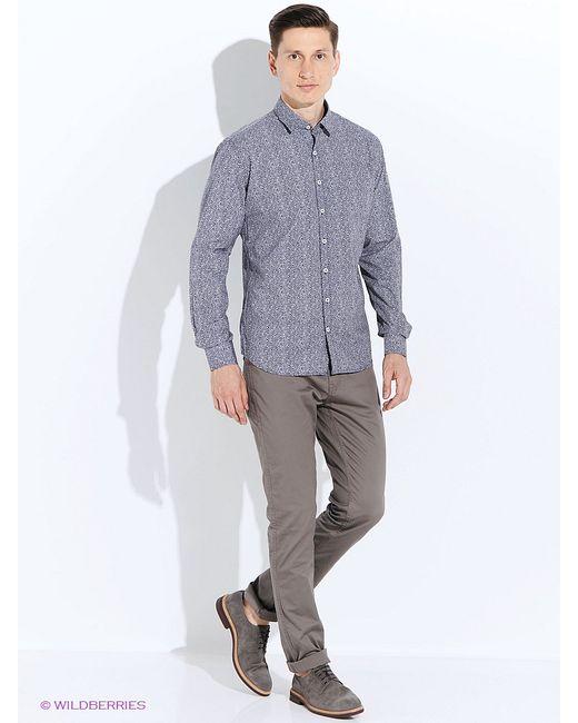 Mango Man   Мужские Синие Рубашки