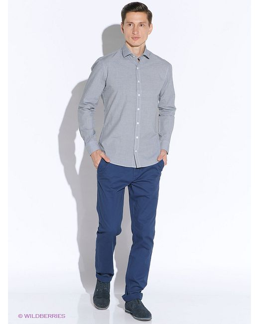 Mango Man | Мужские Серые Рубашки