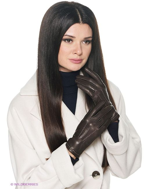 Isotoner   Женские Коричневые Перчатки