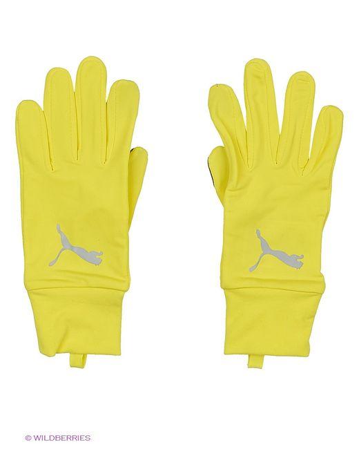 Puma | Мужские Жёлтые Перчатки