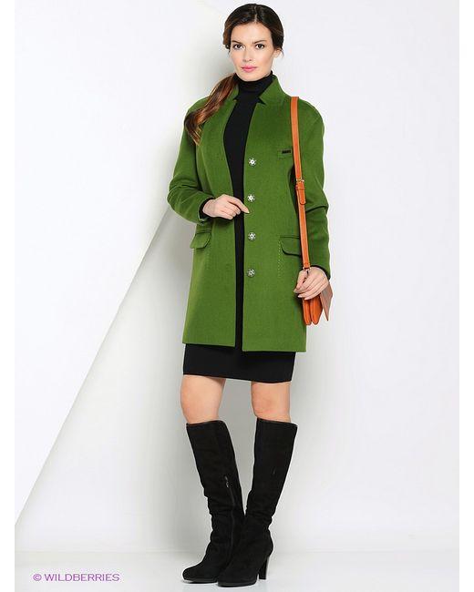 Anora | Женское Зелёное Пальто