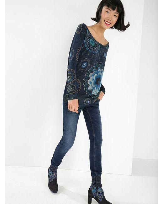 Desigual   Женские Синие Пуловеры