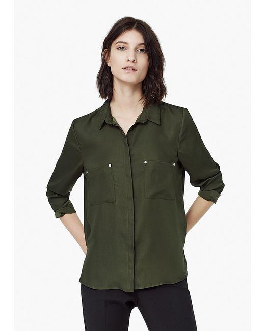 Mango | Женские Зелёные Блузки