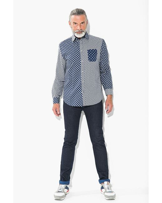 Desigual | Мужские Синие Рубашки