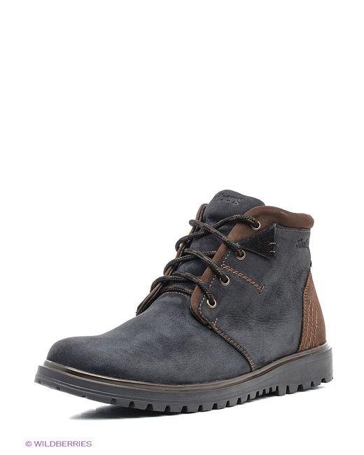 SHOIBERG | Мужские Синие Ботинки