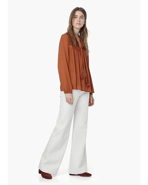 Mango | Женские Оранжевые Блузки
