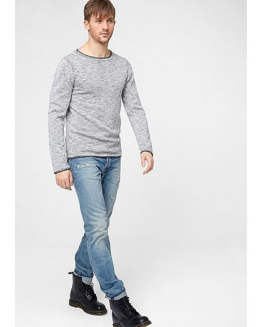 s.Oliver | Мужские Белые Пуловеры