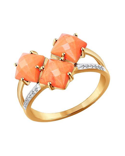 SOKOLOV | Женские Оранжевые Ювелирные Кольца