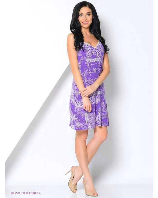Lus'en | Женские Фиолетовые Сарафаны
