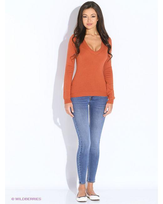 Oodji   Женские Оранжевые Пуловеры