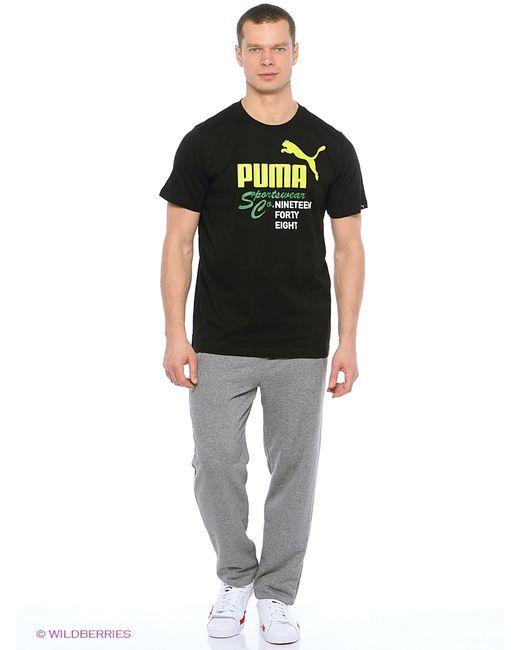 Puma   Мужская Чёрная Футболка