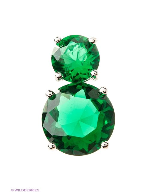 Royal Diamond | Женские Зелёные Подвески