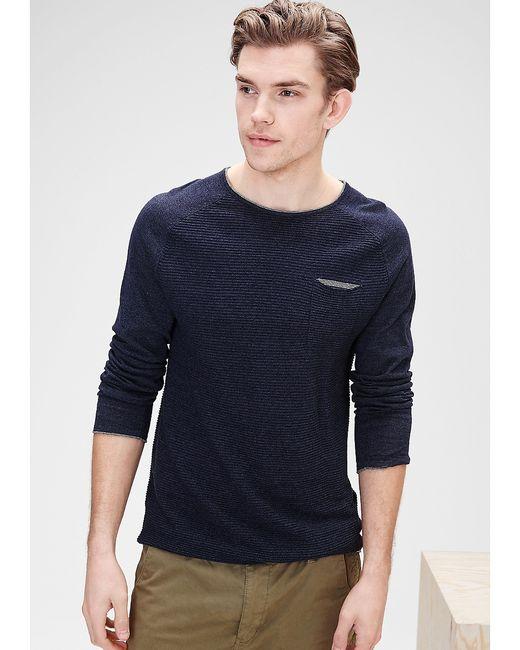 s.Oliver   Мужские Синие Пуловеры