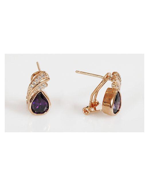 Lotus Jewelry | Женские Фиолетовые Серьги