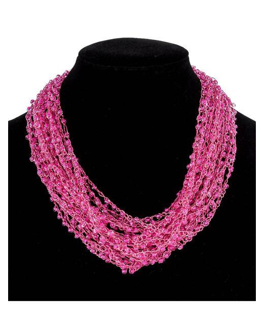 Art East | Женское Розовое Колье Из Бисера Вуаль