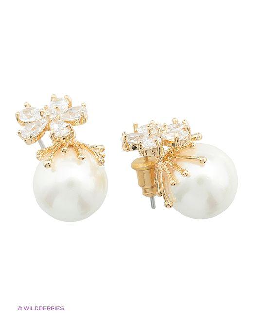 Royal Diamond   Женские Золотистые Серьги