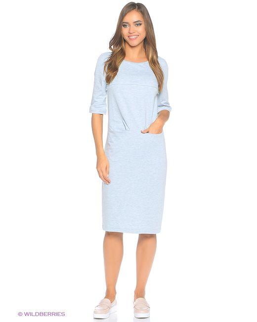 MilkyMama | Женское Голубое Платье Want Yu Mint Melange Midi