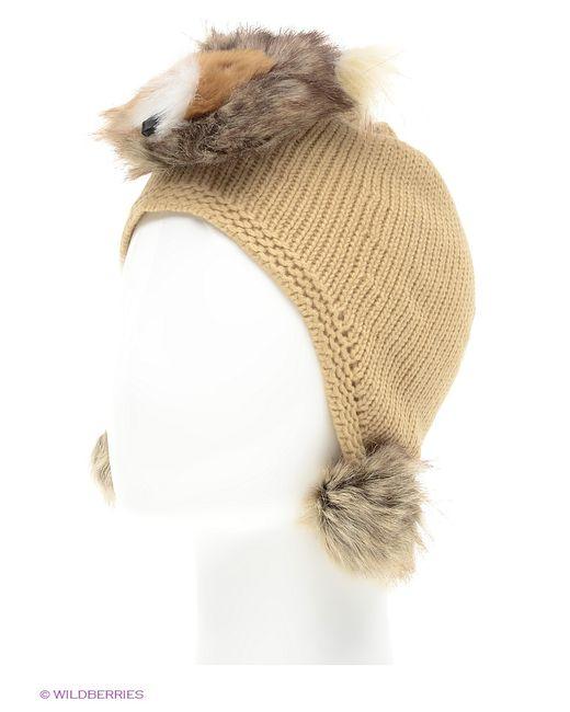 True Fur   Бежевая Шапка
