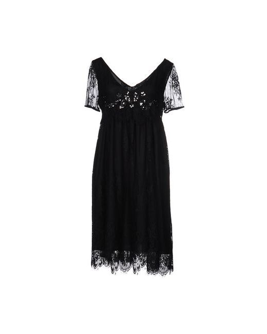 Twin-Set Simona Barbieri   Женское Чёрное Платье До Колена
