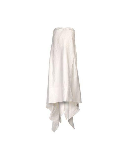 Rick Owens | Женское Белое Платье До Колена