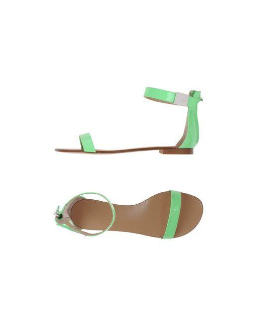Giuseppe Zanotti Design | Женские Зелёные Сандалии