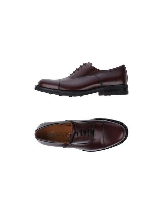 GLORIA B.   Мужская Баклажанная Обувь На Шнурках