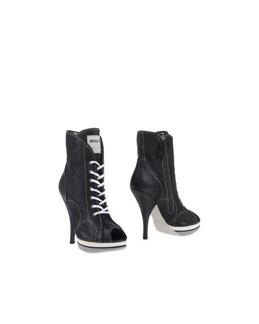 Miu Miu | Женские Чёрные Полусапоги И Высокие Ботинки